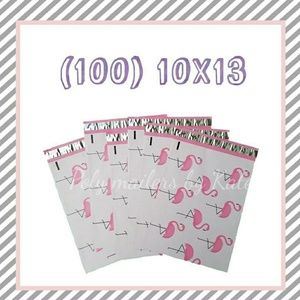 (100)10x13 Flamingos  Poly Mailers